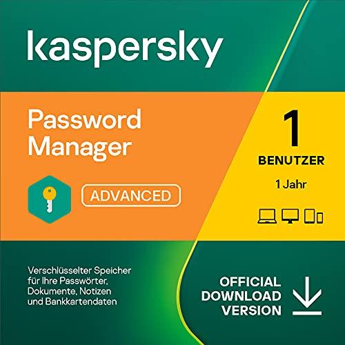 Kaspersky Password Manager | 1 Benutzerkonto | 1 Jahr | Windows/Mac/Android/iOS | Aktivierungscode per Email