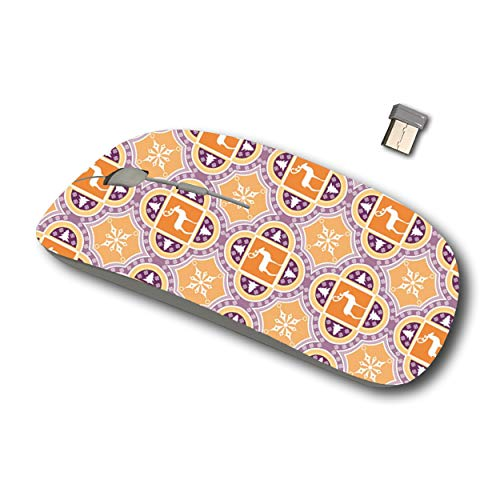 Joan 2.4G Wireless Mouse for Laptop, Ergonomic Computer Mouse with USB Receiver for Windows Mac PC Notebook (Holiday Design Ikat)