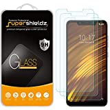 (3 Pack) Supershieldz for Xiaomi Pocophone F1 Tempered Glass Screen Protector, Anti Scratch, Bubble Free