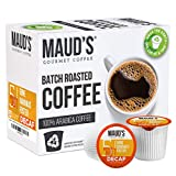 Roast Profile - Maud's Decaf Banana Foster Coffee Pods pair the sweet and subtle notes of banana cream and vanilla ice cream in this medium roast flavored coffee topped with buttery brown sugar, cinnamon and dark rum. Banana bread meets its perfect m...
