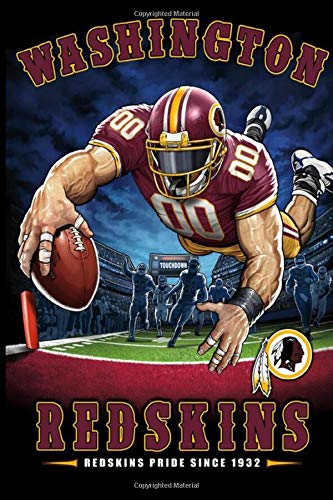 Washington Redskins Weekly Meal Planner Lined Notebook Journal.