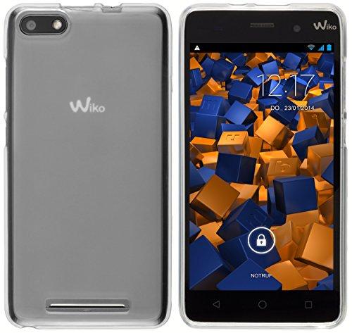 mumbi Funda Compatible con Wiko Lenny 3 Caja del teléfono móvil, Blanco Transparente