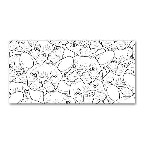 Stampa su tela Tulup - Quadro da parete - Stampa su tela 120x60 Immagine Tema: bulldog francesi