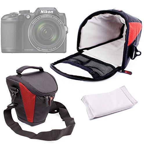 Duragadget - Fundas con correa para transporte de cámara Panasonic Lumix GF8y DMC-FZ300, Nikon...