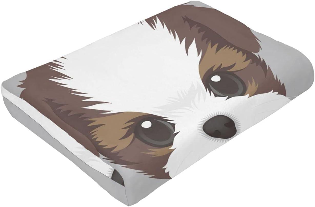 Funny Dog Ranking TOP3 Puooy Max 78% OFF Shin Tzu Flannel Throw Comfor Blanket Ultra Warm