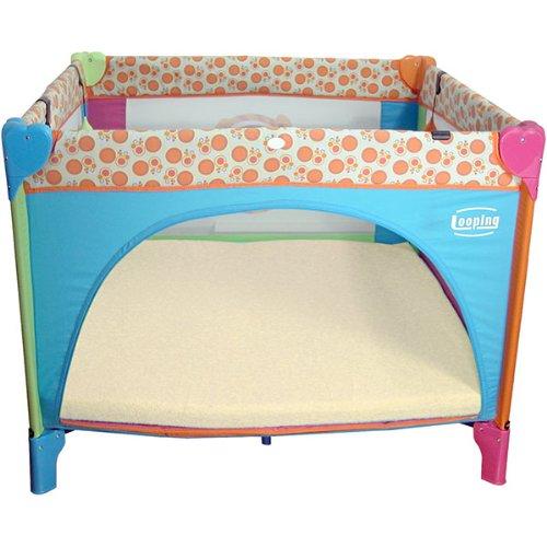 Looping - Tappeto per box per bambini, in spugna, 95 x 95 cm