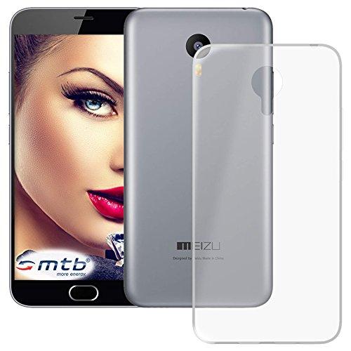 mtb more energy® Schutz-Hülle Clear und Slim für Meizu M2 Note (5.5'') - transparent - flexibel - TPU Silikon Case Cover Tasche