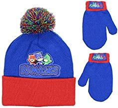 PJMASKS Boys Beanie Winter Hat and Mitten Set - Toddler Size [4015]