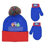 PJMASKS Boys Beanie Hat and Mitten Set - Toddler Size Navy
