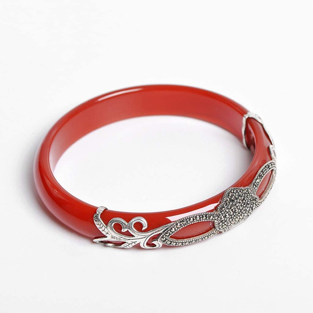 KALRTO Natural Max 70% OFF Red Chalcedony Bracelet S925 Jad New product! New type Sterling Silver