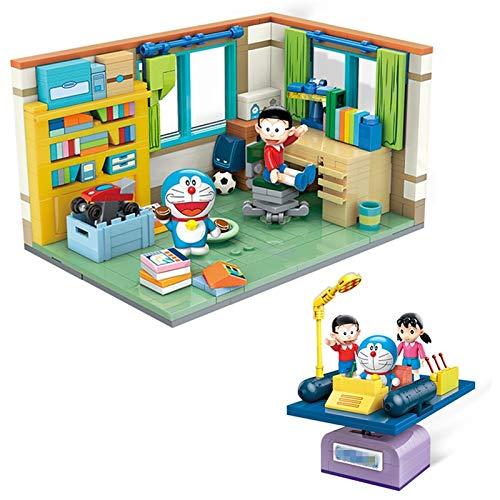 tianluo DIY Casa de muñecas Doraemon Nobita Nobis Montaje De La Habitación Máquina del Tiempo Modelo De Bloques De Construcción Kit De Ladrillos Juegos Clásicos Juguetes para Niños Regalo