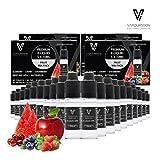 VAPOURSSON 20 X 10 ml E Mélange de Fruits Liquide - Apple - Myrtille - Cerise - Fraise - La...