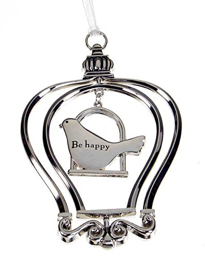 Be Happy - Birdcage Ornament by Ganz