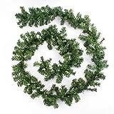 artplants.de Guirnalda de Ramas Artificial de Abeto, 270cm, Ø 18cm - decoración -...