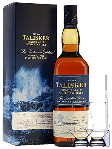 Talisker Distillers Edition 0,7 Liter + 2 Glencairn Gläser und Einwegpipette