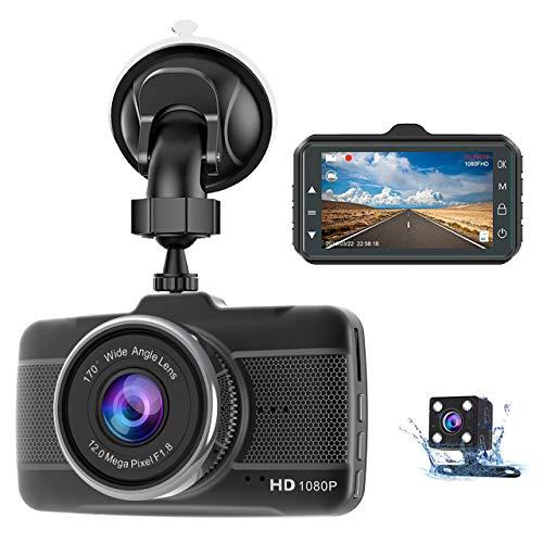 Dash Cam Front and Rear Claoner FHD 1080P Dual Dash Cam Backup Car...