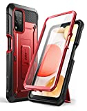 SUPCASE Outdoor Hülle für Samsung Galaxy A12 4G Handyhülle Bumper Hülle 360 Grad Schutzhülle Cover [Unicorn Beetle Pro] mit Integriertem Bildschirmschutz (Rot)