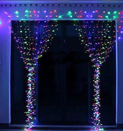 IMAGE Curtain Lights 9.8x6.6 Feet 224 LED String Lights Fairy Curtain String Lights for Wedding Party Home Garden Indoor Outdoor Wall Backdrops Decorations Waterproof UL Safety Standard Multi Color