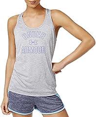 Under Armour Camiseta Sin Mangas Suelta Jaspeada Gris para Mujer