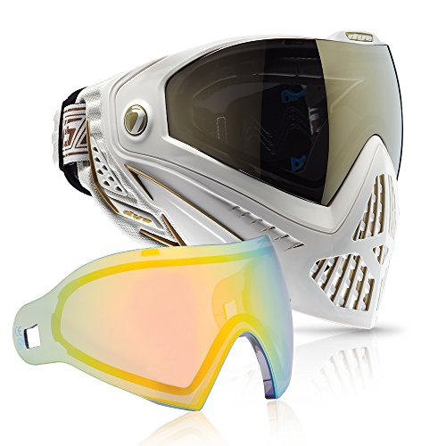 Dye i5 Paintball Goggle (White/Gold with Northern Lights Thermal Lens Combo)