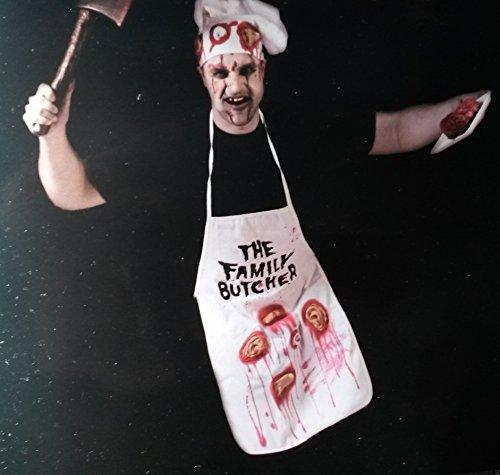 Sachsen Versand Metzger-Blutige Schürze Blut-Grill-Schürze Küchenschürze Blutbad Horror Halloween DEKO Karneval