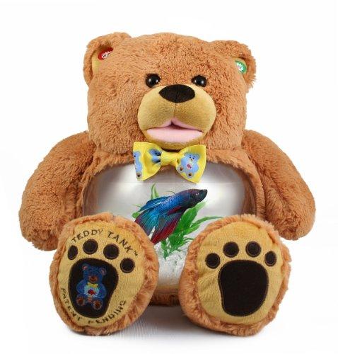 Teddy Tank Honey Gold Bear Betta Fish Tank 8-Piece Premium Package