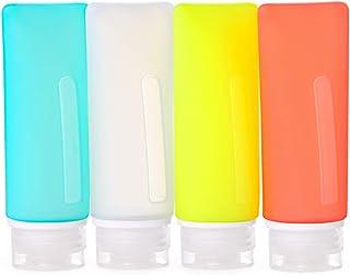 FantasyDay 4 Pack 3.1oz Leakproof Silicone Travel Toiletries Bottles Set Waterproof Luggage Packing Organizer - TSA Carry ...