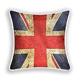 XIXIXIKO - Funda de almohada cuadrada de 50,8 x 30,5 cm, con la bandera del Reino Unido, funda de cojín suave para sofá, dormitorio, silla