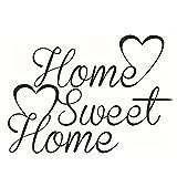 Dosige Persönlichkeit Wandtattoo Englischer Text' Home Sweet Home' Aufkleber Wandaufkleber Wandsticker für Wohnzimmer Schlafzimmer Kinderzimmer