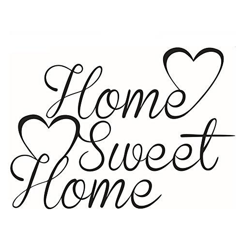 """JUNGEN Pegatina de pared\""""home sweet home\"""" Papel pintado Vinilo Extraíble Adhesivos Decorativos Para Cocina Sala de estar Dormitorio Restaurante Baño (58 * 42cm)"""