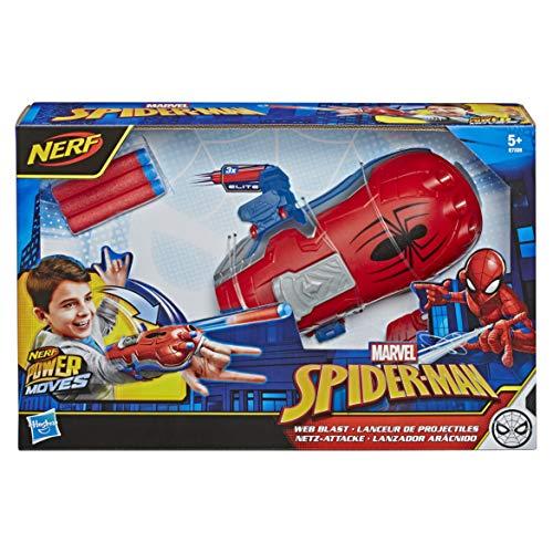 Hasbro E7328EU4 Nerf Power Moves Marvel Spider-Man Netz-Attacke, NERF Dart-Abschuss Spielzeug für Kinder, Rollenspiel, für Kinder ab 5 Jahren