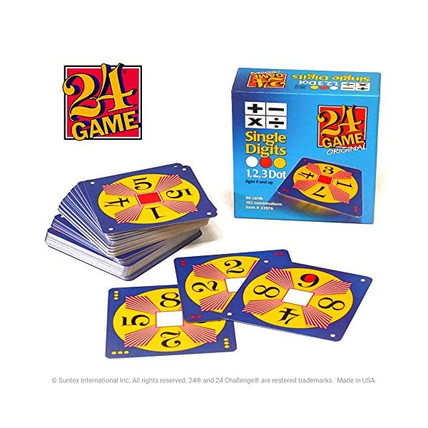 24 Game 96-card deck: Single Digits Math Card Game