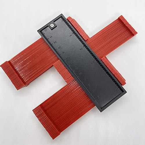 【1セット】ikikin 測定ゲージ 角度測定 型取りゲージ 曲線定規 コンターゲージ 目盛り120mm (red)