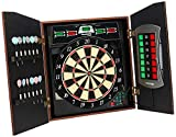Arachnid Cricket Maxx 5.0 Electronic Dartboard Cabinet Set Includes 6 Steel Tips, 6 Soft Tips, Extra Tips, and AC Adapter