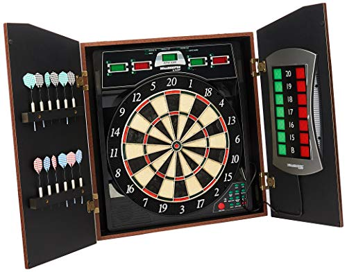 Bullshooter Cricket Maxx 5.0 Electronic Dartboard Cabinet Set Includes 6 Steel...