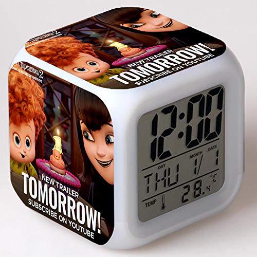 Wizard Hostel Alarm Clocks Kids LED Clock Cartoon Night Light Flash 7 Color Changing Digital Clock Electronic Desk Clock,Style 1, Birthday