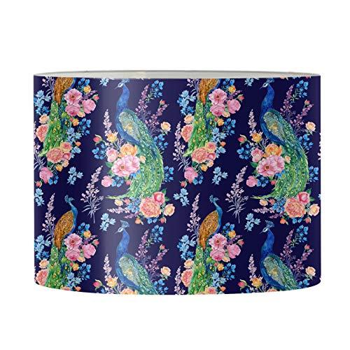 Belidome Pantuflas florales de pavo real para mujer, dormitorio, sala de estar, decoración de oficina antideslizante