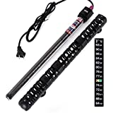 UPMCT Aquarium Heater, Submersible Fish Tank Heater with Thermometer Strip Adjust Knob Thermostat, Suitable for 50 to 85 Gallons (300W)