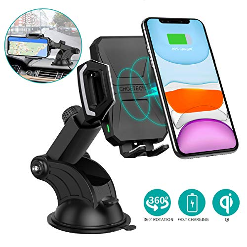No AC Adapter Wireless Charging Stand with Cooling Fan Compatible iPhone 11//11 Pro//11 Pro Max//XR//XS//XS Max//X//8,10W Fast Charge Samsung Galaxy Note 10//S20//S20+//S10 CHOETECH Wireless Charger