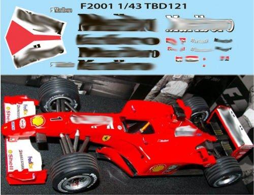 1/43 Ferrari F1 F2001 2001 Michael Schumacher Sponsor Decals TB Decal TBD121
