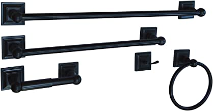 "Kingston Brass BAHK3212478ORB Serano Towel Bar/Towel Ring/Toilet Paper Holder/Robe Hook, 18""/24"", Oil Rubbed Bronze"