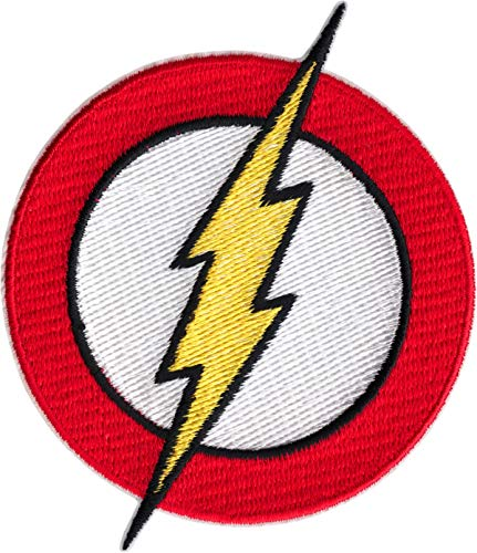 Square Deal Recordings & Supplies The Flash - Classic Lightning Bolt Logo - Embroidered Iron on Patch
