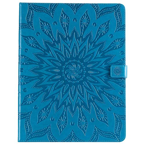 GROSSARTIG For IPad Pro 12.9 Inch (2018 Release, 3rd Generation) Business Horizontal Flip Waterproof Embossing Sunflower Pattern Premium Leather Protective Case Leather Hard Back Protective Stand Cove