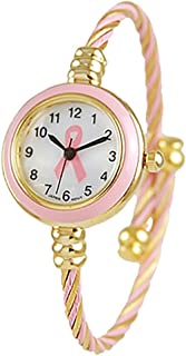 Rosemarie Collections Women's Mother of Pearl Coil Rope Twist Cuff Bracelet Watch