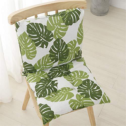 LucaSng 1PC Cuscino per sedia a schienale basso con schienale, seduta e schienale con nastri e chiusura lampo, imbottito, sedia da giardino, b, 45x45x7cm