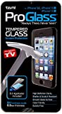 Tzumi ProGlass Screen Protector for iPhone 5 / SE– Premium High Definition Tempered Glass with Easy Application and Cleaning Kit for High-Definition Clarity, Screen Protection and Scratch-Resistance