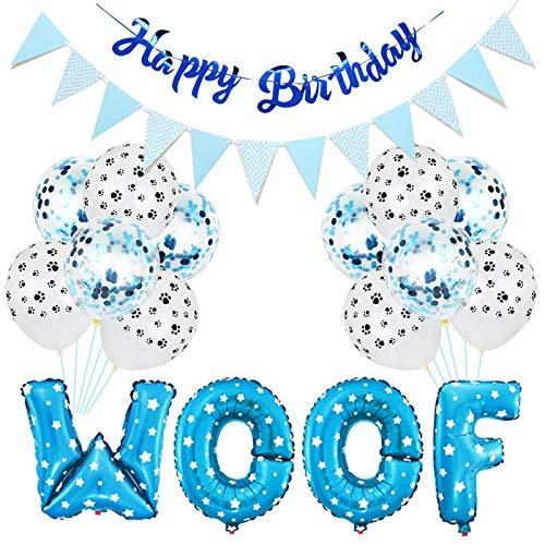 Hund Geburtstagsfeier Liefert Haustier Party Luftballons Schuss Brief Luftballons Pfotenabdruck Luftballons Haustier Geburtstag Hut Alles Gute zum Geburtstag Banner für Hund