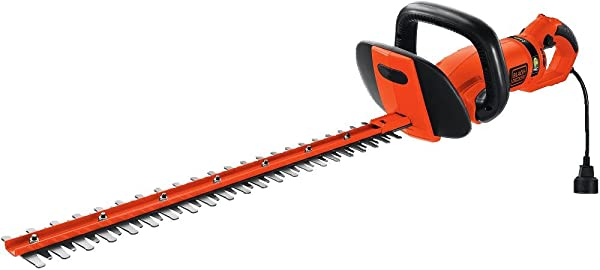 BLACK DECKER HH2455 3 3 Amp HedgeHog Hedge Trimmer With Rotating Handle And Dual Blade Action Blades 24