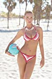 Sexy Girl in Bikini Holding Volleyball at Beach Photo Photograph Cool Wall Decor Art Print Poster 18x12