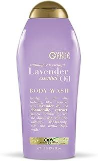 OGX Calming & Reviving + Essential Oil Body Wash, (022796924315) Lavender 19.5 Fl Oz
